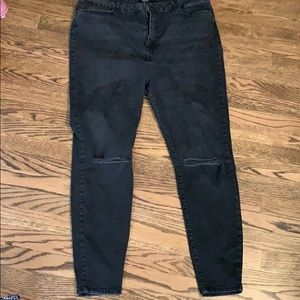 Forever 21+ black washed out jeans
